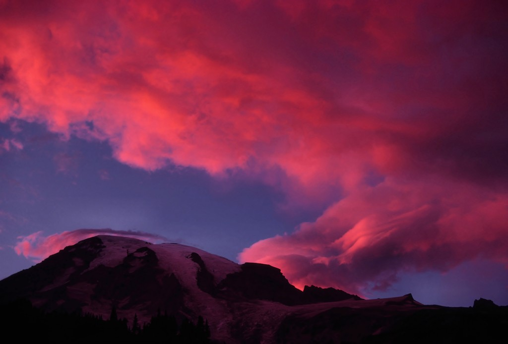 Sunset on Mt. Rainier